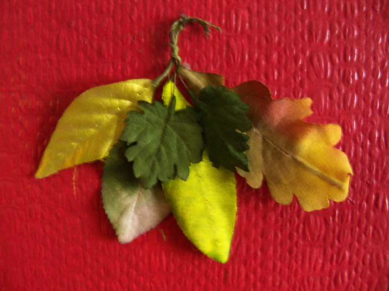 A selection of artificial leaves made at W.F. Johnson, Flower Makers