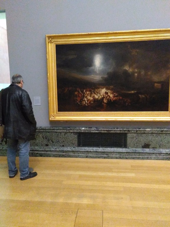 Reading the label on Turner's painting in the Tate Britain's Clore Gallery